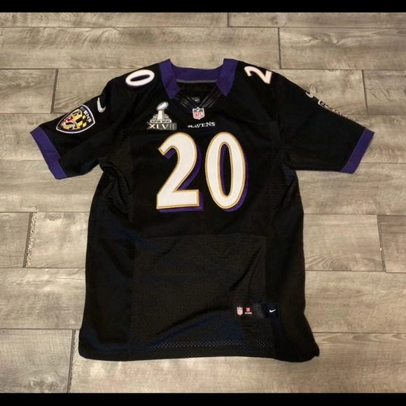 Nike Super Bowl Ed Reed Ravens Jersey 48